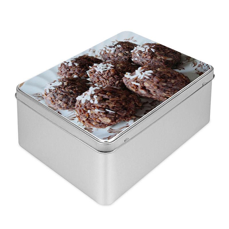 boite biscuits personnalis e boite en m tal rectangle. Black Bedroom Furniture Sets. Home Design Ideas