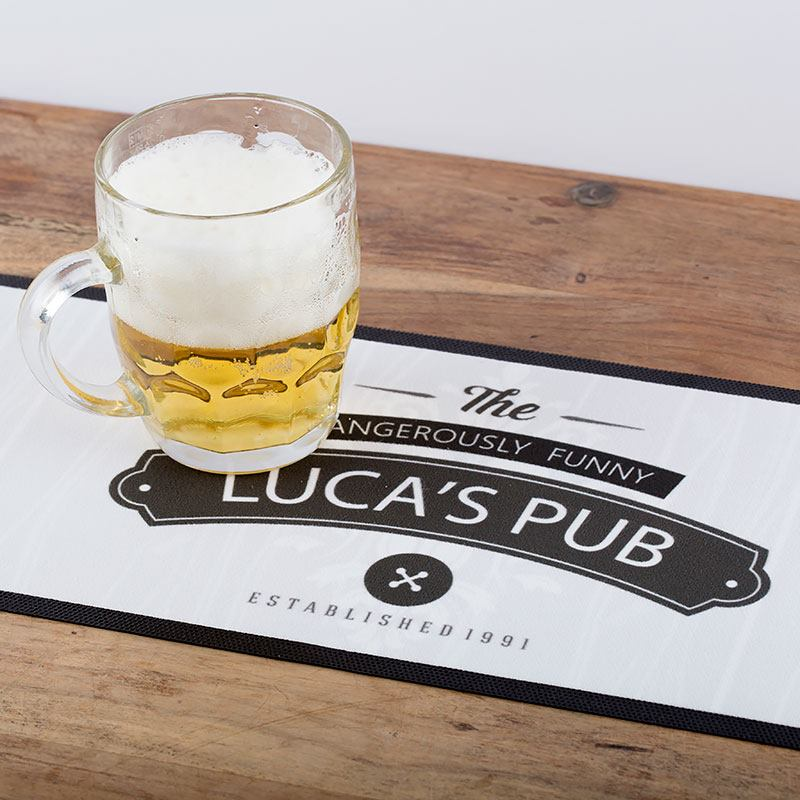 personalized beer mat