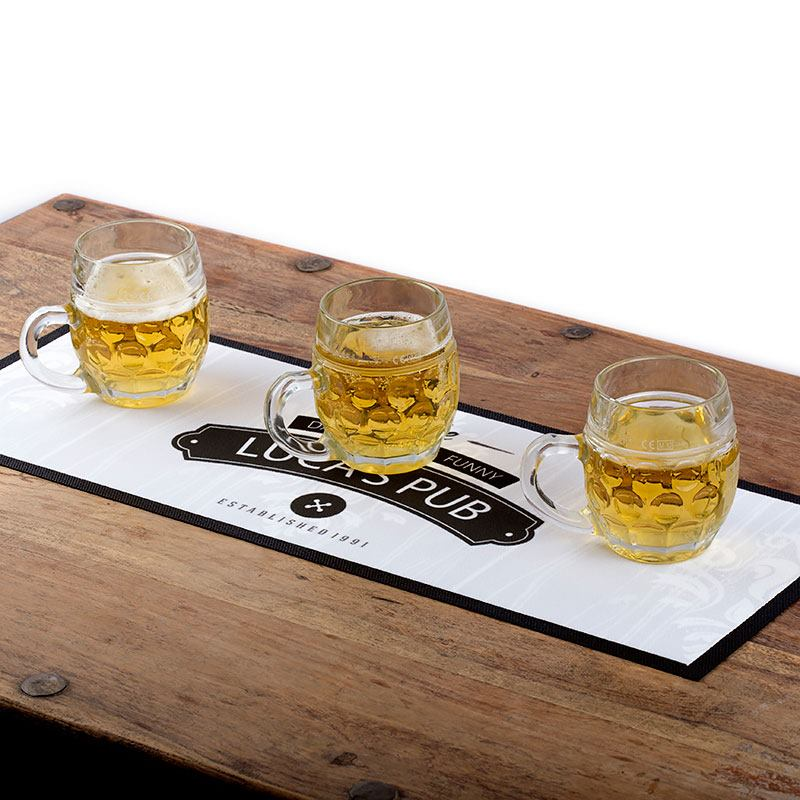 Personalised Bar Runners UK Custom Mats Beer And Cheer