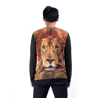 lion printed long sleeve t shirts