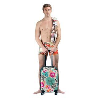 holiday luggage suitcase with model