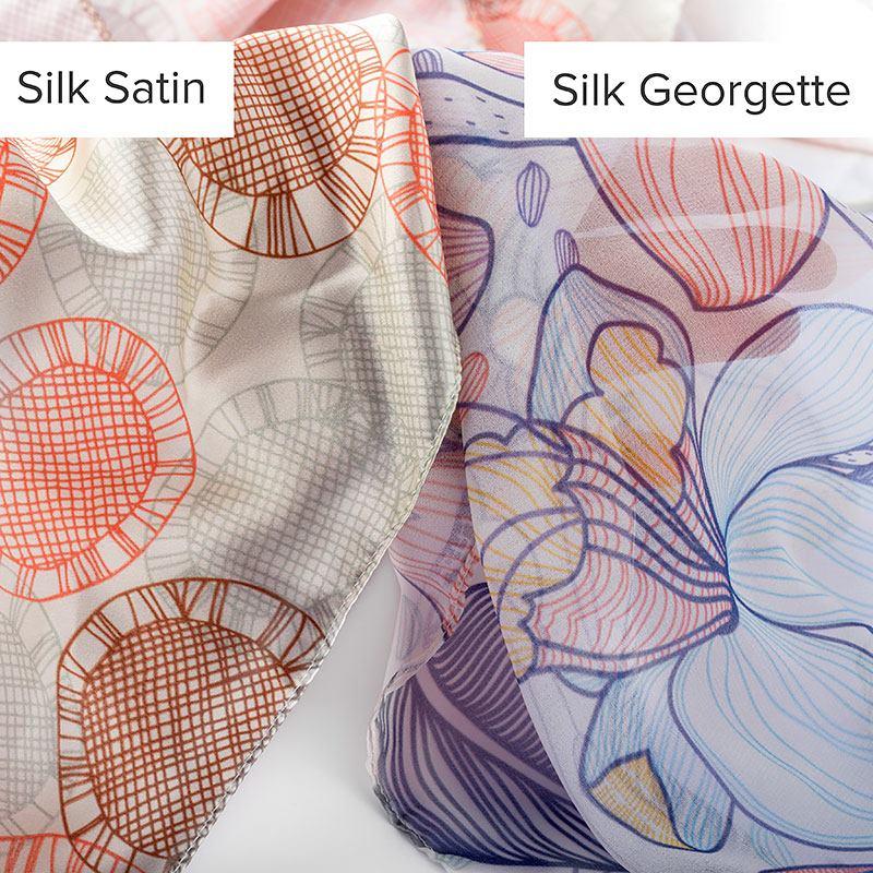 custom silk fabric comparison