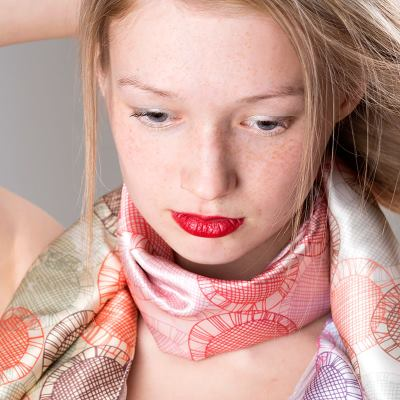 シルク サテン オリジナルスカーフ