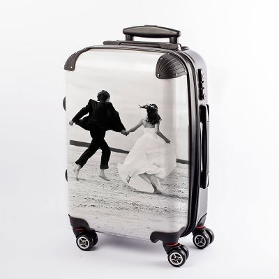 Suitcase with photos