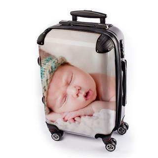 Koffer mit eigenem Motiv mit Foto und Text Baby