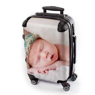 personalised suitcase with baby picture