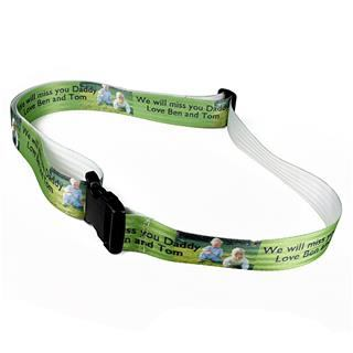 green luggage belt strap