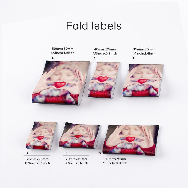 Personalised fabric labels · personalised fold fabric labels