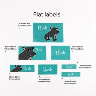 Personalised flat fabric labels