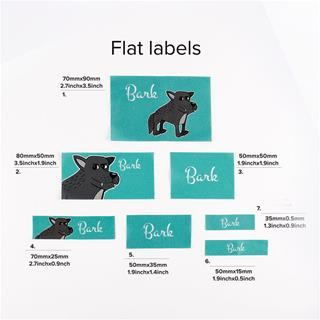 Personalised flat woven labels