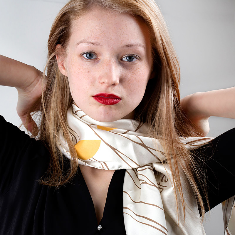 Style your own real silk scarf