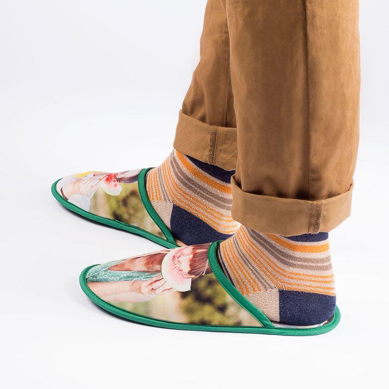 Zapatillas de casa personalizadas pantuflas personalizadas con fotos - Zapatillas para casa ...