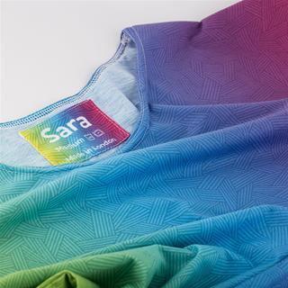 personalised label printed ladies t shirts