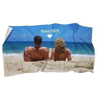 strandhanddoek foto tekst