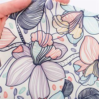 stampa su cashmere fiori