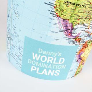 cestino mappa del mondo