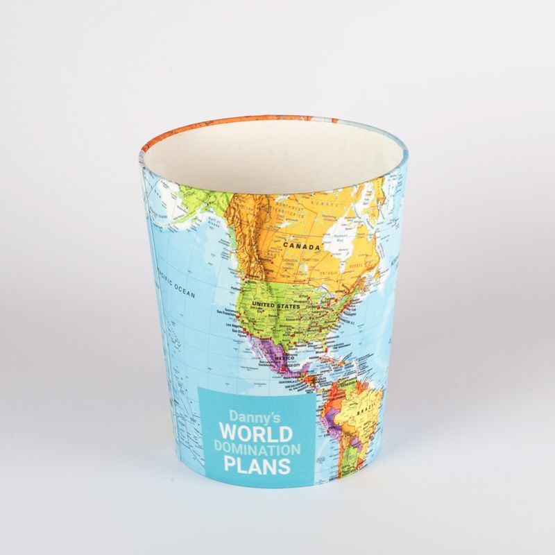 Personalised bin photo waste paper basket - Basketball waste paper basket ...