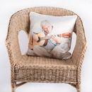 foto cuscino in seta personalizzato dettaglio