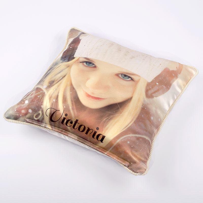 foto cuscino in seta personalizzato