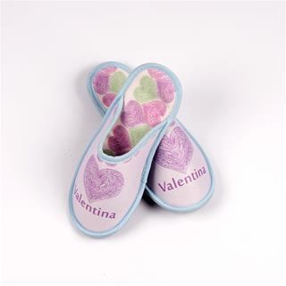 Pink personalised slippers for her