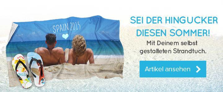 deinem personalisierten Strandtuch