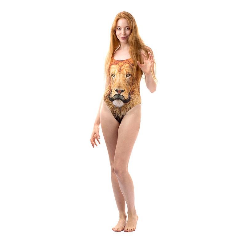tiger printed swimsuits