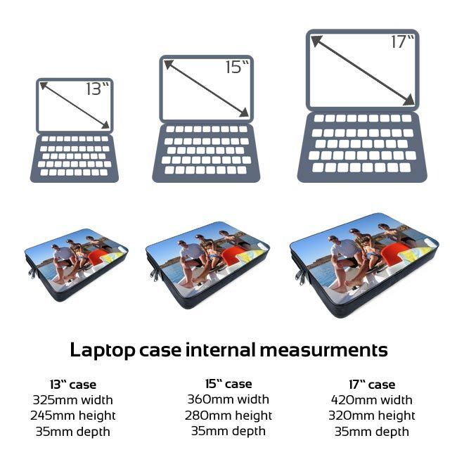 Laptop bag sizing