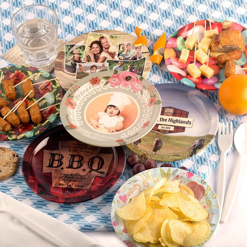 Assiette plastique personnalisée