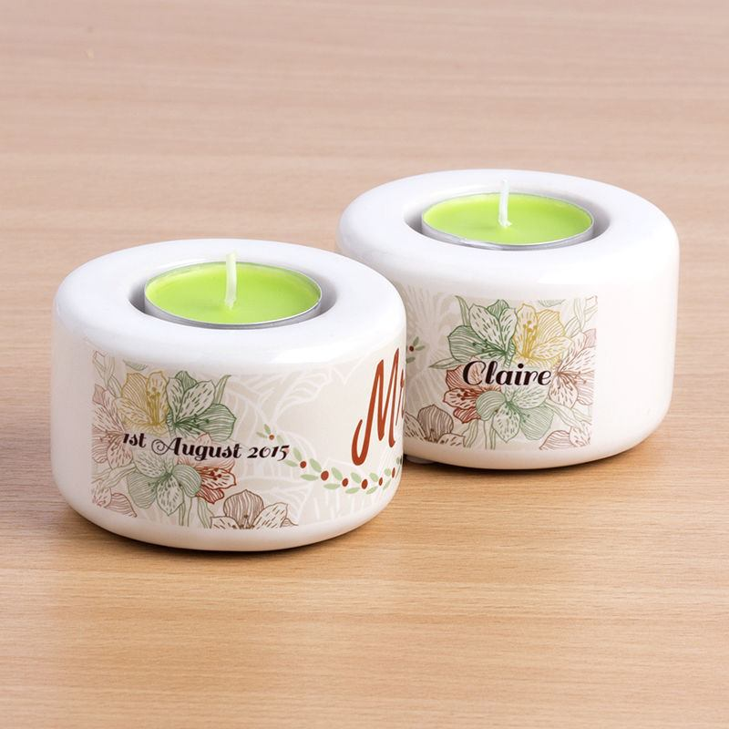 apple scented candle holders pack of 2