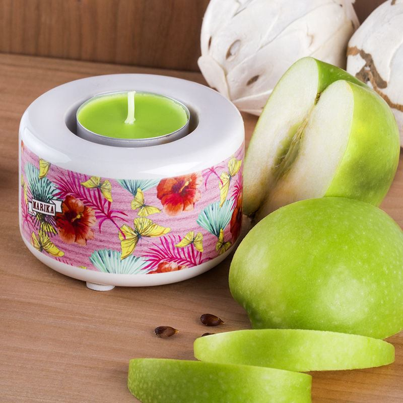 apple scented personalised candle holders