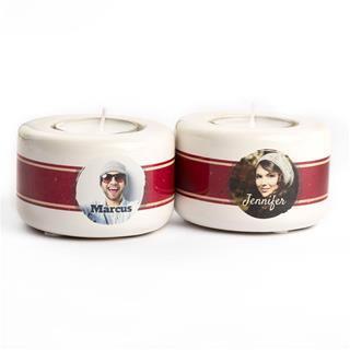 photo candle holder set of 2