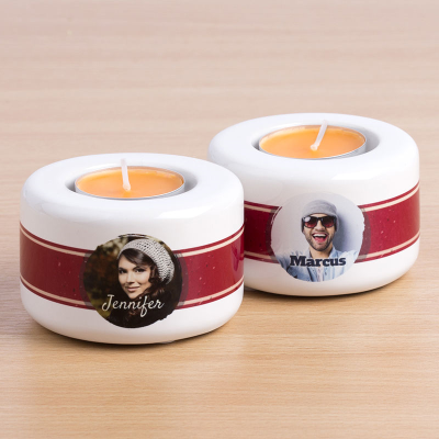 personalized name tea light holders