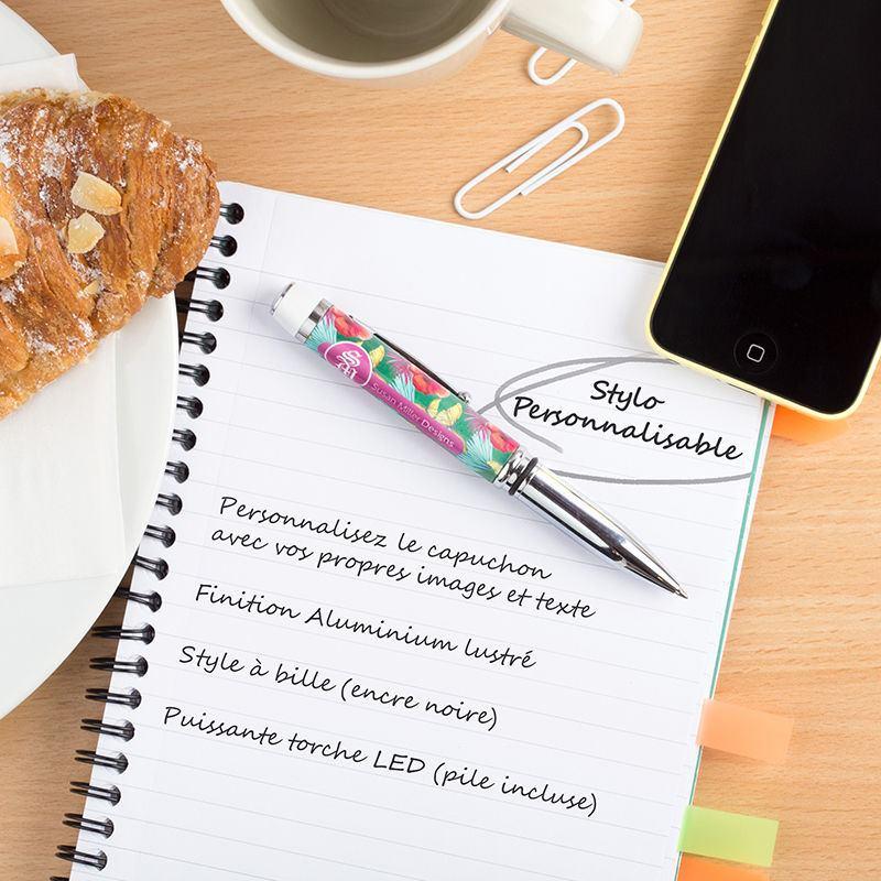 Stylo personnalisable stylo lampe torche personnalis - Comment enlever du stylo sur du tissu ...