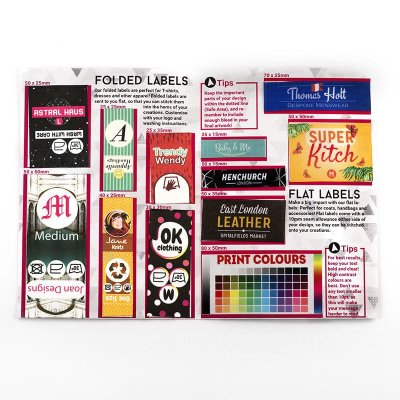 Fabric Label Sample Pack See All Fabric Labels To Print On – Product Label Sample