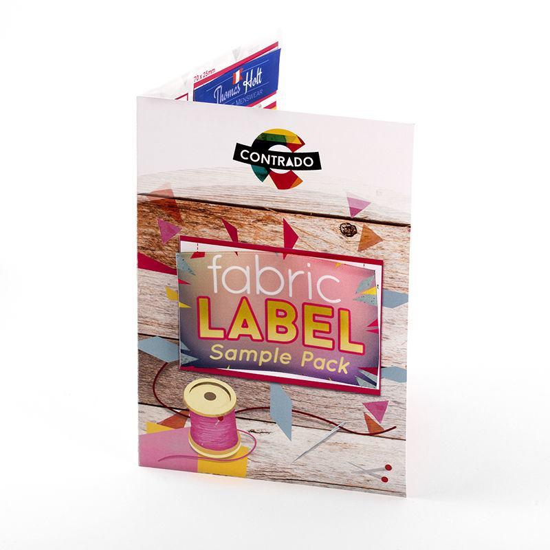 Textiletiketten Mustersammlung