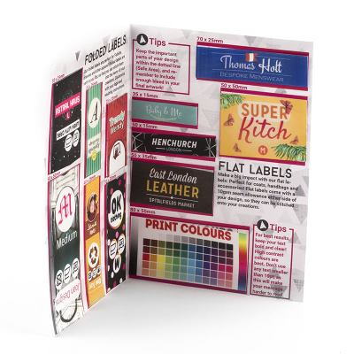 sample pack for personalised labels