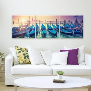 holiday photo 3 piece canvas