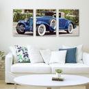 triptych canvas wedding car