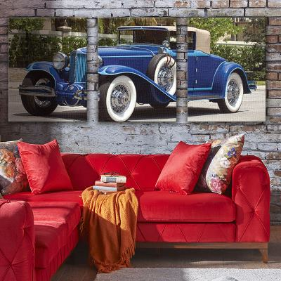 triptych canvas wedding car