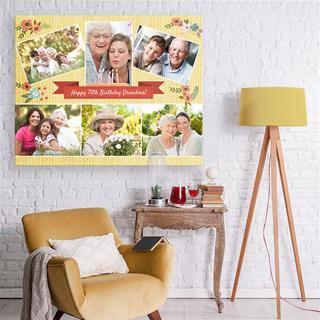 personalisierte leinwand collage