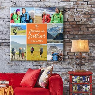 Fotoleinwand collage Familie