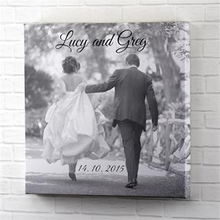 personalised canvas prints with words