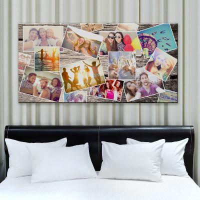 collage di foto su tela