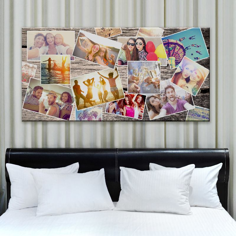 leinwand collage fotocollagen auf leinwand selbst gestalten. Black Bedroom Furniture Sets. Home Design Ideas