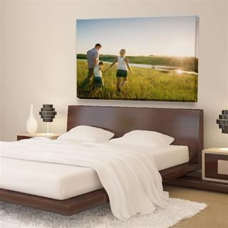 personalise photo canvas bedroom