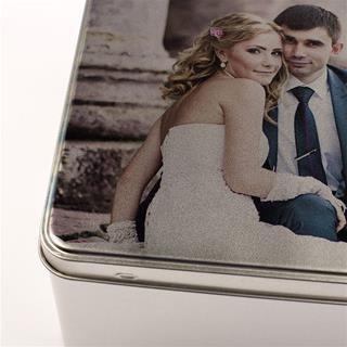 photo keepsake tin print detail