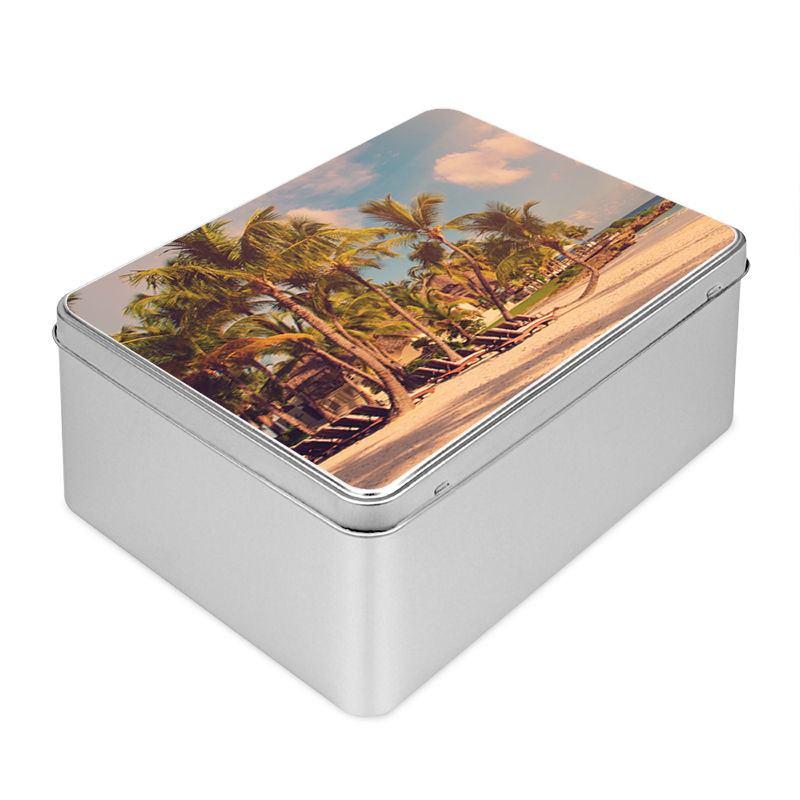 Boite en m tal personnalisable sur id e cadeau photo - Boite a the en metal ...