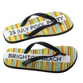 Name printed photo flip flops