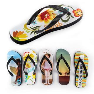 personalised custom flip flops