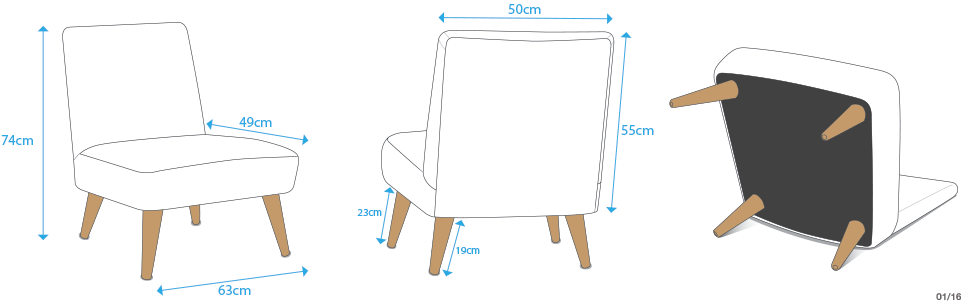 dimensions custom chair